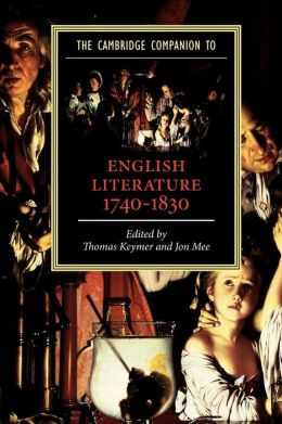 The Cambridge Companion to English Literature, 1740-1830