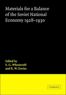 Materials for a Balance of the Soviet National Economy, 1928-1930