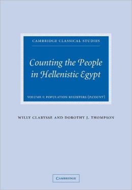 Counting the People in Hellenistic Egypt (2 Volume Paperback Set)