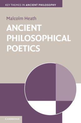 Ancient Philosophical Poetics