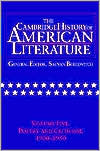 The Cambridge History of American Literature, Volume 5: Poetry and Criticism, 1900-1950