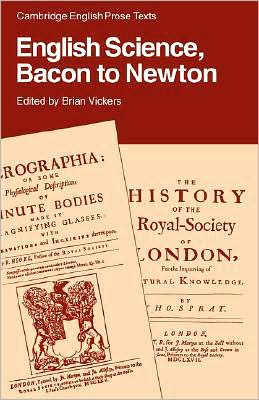English Science: Bacon to Newton