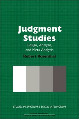 Judgment Studies: Design, Analysis, and Meta-Analysis