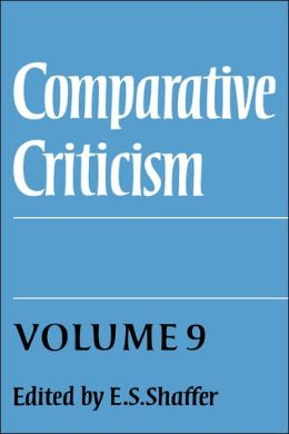 Comparative Criticism, Volume 9: Cultural Perceptions and Literary Values