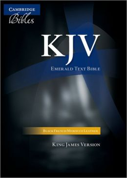 KJV Standard Text Black French Morocco KJ533T