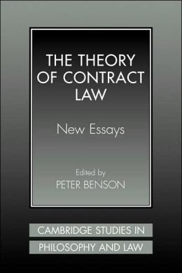 The Theory of Contract Law: New Essays