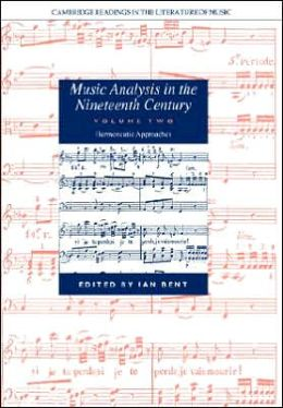 Music Analysis in the Nineteenth Century, Volume 2: Hermeneutic Approaches