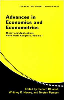 Advances in Economics and Econometrics: Theory and Applications, Ninth World Congress, Volume I