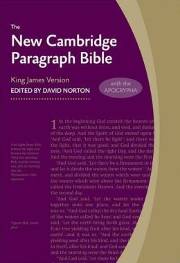 New Cambridge Paragraph Bible with Apocrypha Personal Size KJ590:TA