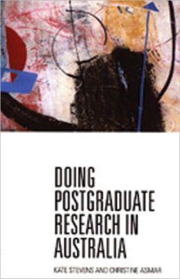 Doing Postgraduate Research in Australia