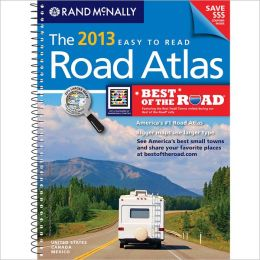 2013 Road Atlas Midsize Easy to Read