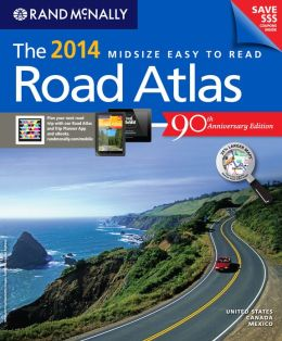 2014 Midsize Easy to Read Road Atlas