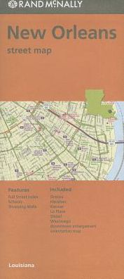 Folded Map New Orleans/Hammond/Ponchat La Streets