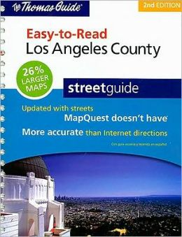 Los Angeles County, California Easy to Read Atlas