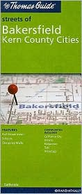 Bakersfield, California Map