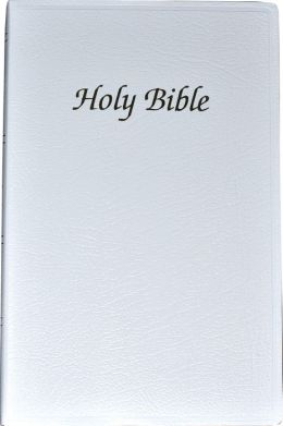 First Communion Bible: New American Bible (NAB), white imitation leather, thumb indexed
