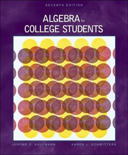 Algebra for College Students with CD-ROM and InfoTrac