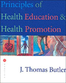 Principles of Health Education and Health Promotion