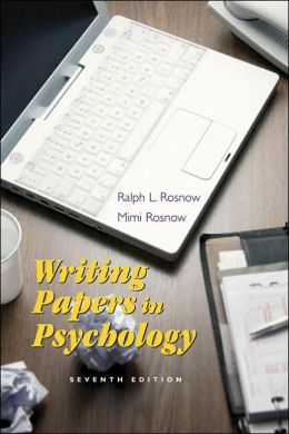 Writing Papers in Psychology: A Student Guide to Research Papers, Essays, P