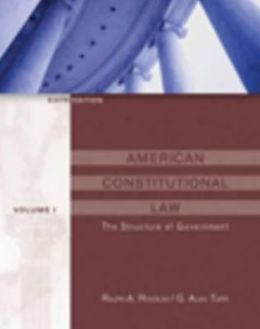 American Constitutional Law: Structure of Government