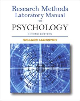 Research Methods Laboratory Manual for Psychology (with CD-ROM and InfoTrac )