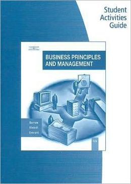 Student Activity Guide for Burrow/Kleindl's Business Principles and Management, 12th