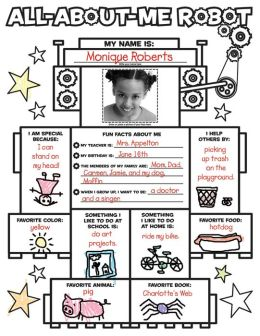 Graphic Organizer Posters: All-about-Me Robot: 30 Fill-in Personal Posters for Kids to Display with Pride