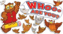 Whoooooo Are You! Mini Bulletin Board Set