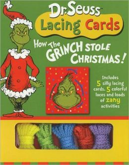 Dr. Seuss Lacing Cards - How the Grinch Stole Christmas