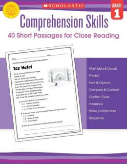 Comprehension Skills: Short Passages for Close Reading: Grade 1
