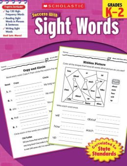 Scholastic Success with Sight Words (PagePerfect NOOK Book)