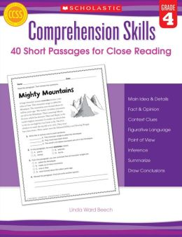 Comprehension Skills: 40 Short Passages for Close Reading: Grade 4 (PagePerfect NOOK Book)