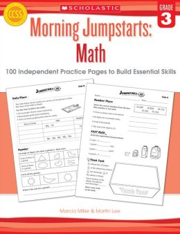 Morning Jumpstarts: Math: Grade 3: 100 Independent Practice Pages to Build Essential Skills (PagePerfect NOOK Book)