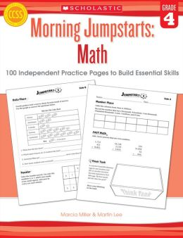 Morning Jumpstarts: Math: Grade 4: 100 Independent Practice Pages to Build Essential Skills (PagePerfect NOOK Book)