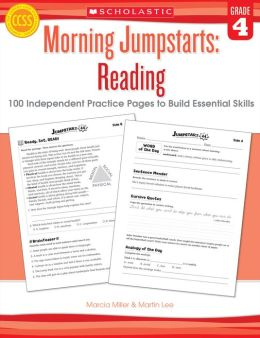 Morning Jumpstarts: Reading: Grade 4: 100 Independent Practice Pages to Build Essential Skills (PagePerfect NOOK Book)