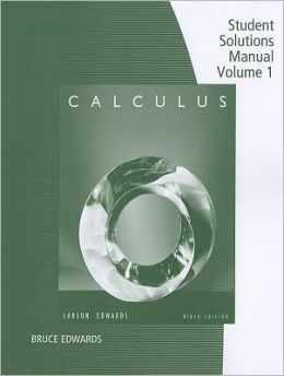 Calculus - Student Solutions Manual, Volume I