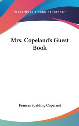Mrs Copeland's Guest Book