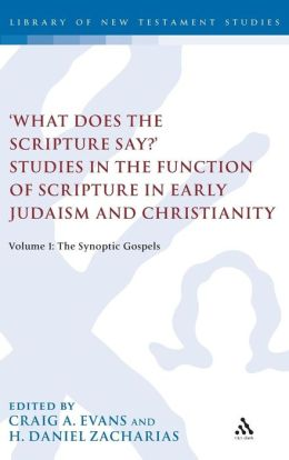 'What Does the Scripture Say?' Studies in the Function of Scripture in Early Judaism and Christianity: The Synoptic Gospels