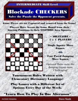 Blockade Checkers: Checkers Blockade Games