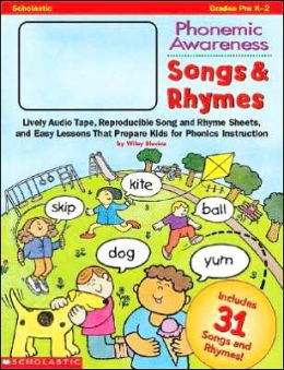 Songs and Rhymes: Live Audio Tape, Reproducible Song and Rhyme Sheets and Easy Lessons That Prepare Kids for Phonics Instructions