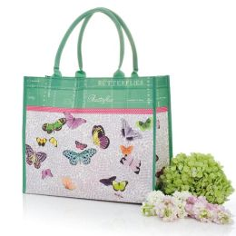 Lavender Leaf & Butterflies Mother's Day Tote Bag - 15