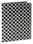 Product Image. Title: Quatrefoil Black & White Presentation Book-PVC