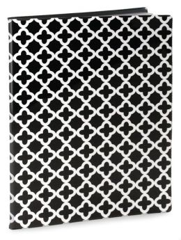Quatrefoil Black & White Presentation Book-PVC