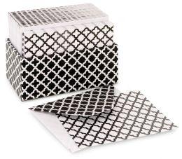 Quatrefoil Black & White Boxed Cards Set of 48