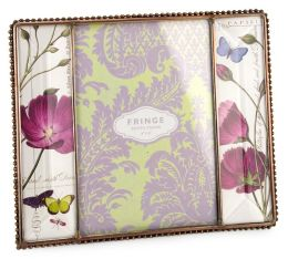 Lavender Leaf Glass & Metal Trim Frame in Gift Box( 4