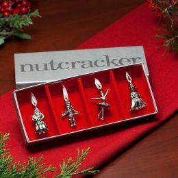 Nutcracker Pewter Ornament Set