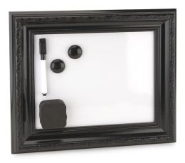 Black Frame Magnetic Dry Erase Board 8 x 10