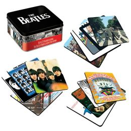 Coasters Beatles Album Covers in Tin