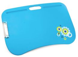 Jonathan Adler Meadow Mosaic Blue & Teal Lap Desk (20.2x13.9x.4)