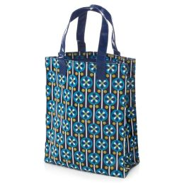 Jonathan Adler Meadow Mosaic Blue Teal Tote (8x10x3.5)